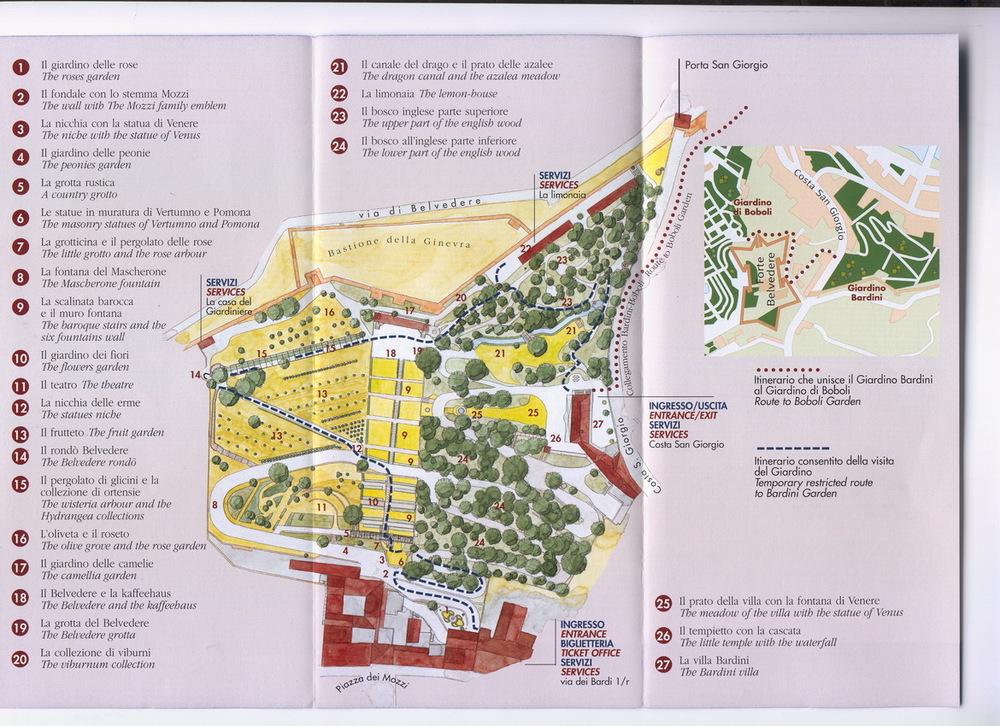 Boboli Gardens Map Fasci Garden