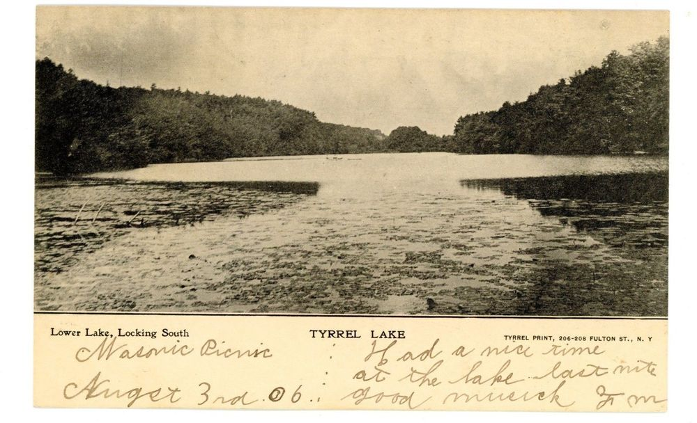 View of Lake Tyrrel circa 1905, 15 years before the Becks started to acquire the property around the lake that would become Innisfree. Source: ebay.co.uk