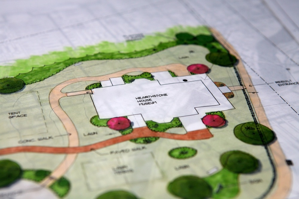 Nearly 15 years ago the Friends of Hearthstone commissioned Dennis Buettner to design an historically inspired garden for the house.  Its elements, still relevant today, form the basis for the current garden project.