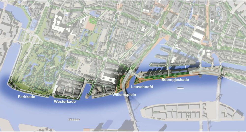 Waterfront Rotterdam plan. Source: Biennal 2012