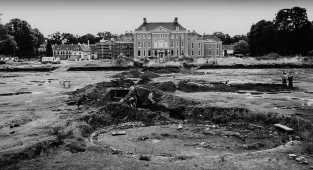Original water works foundations were uncovered in the 1980's.