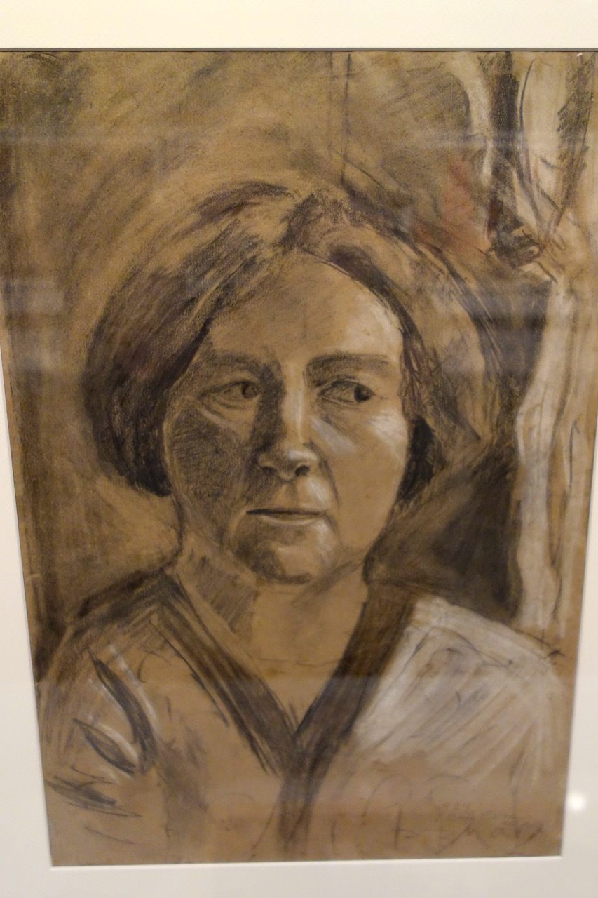 "Ana Piascek, Burle Marx's Austro-Hungarian governess who taught Burle-Marx how to cultivate seeds.  ""At his request, the artist was buried next to her.""  Portrait by Burle Marx."