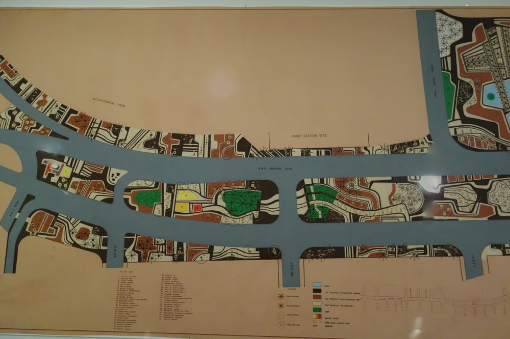 Portion of the Roberto Burle Marx design for Biscayne Boulevard, with Haruyoshi Ono. Miami, 1988.