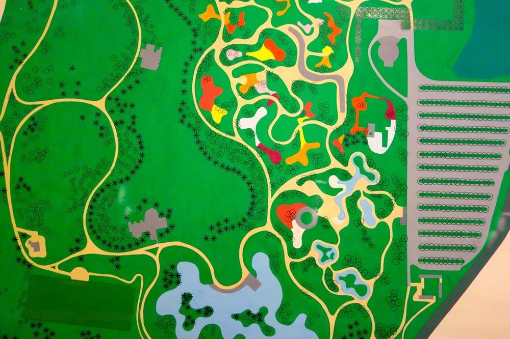 Roberto Burle Marx design for Parque del Este, Caracas, Venezuela, 1956.