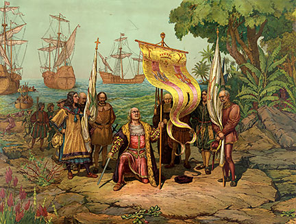 """Cristóbal Colón (Christopher Columbus) claims the New World. On 27 October 1492 Columbus sighted Cuba, he named the island Juana."" source: nationsonline.org"