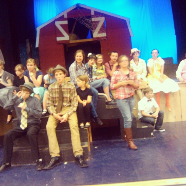Springville playhouse production of Charlotte's web.  So much fun!  Come see it with your family. #springvilleplayhouse. #allisonisgreat