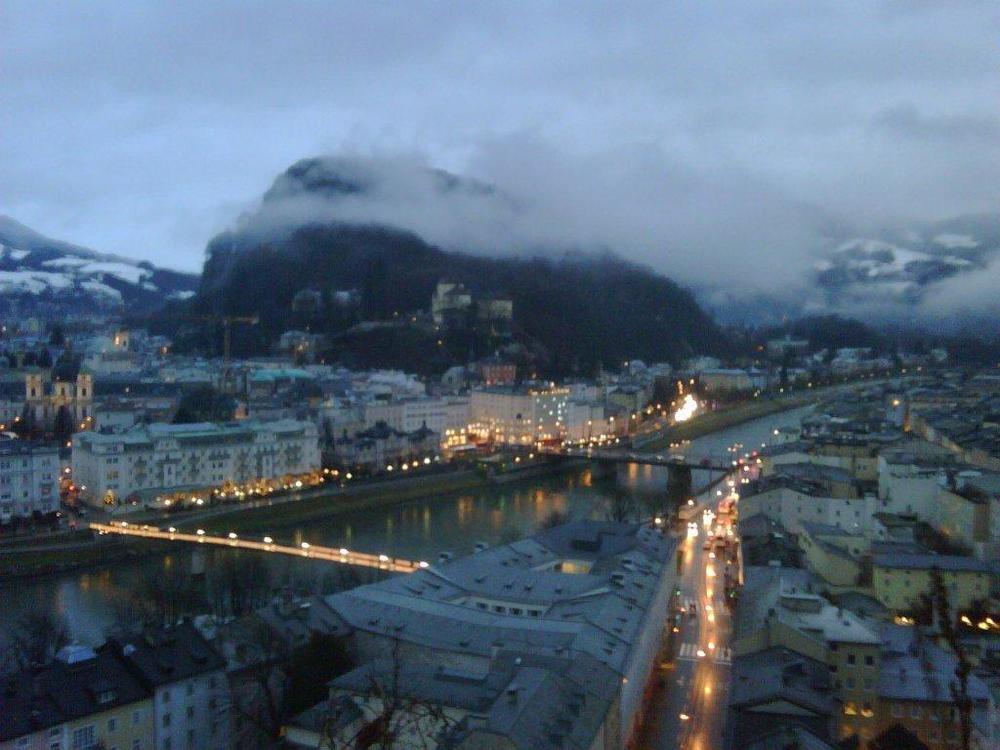 Salzburg, Austria - Foggy day