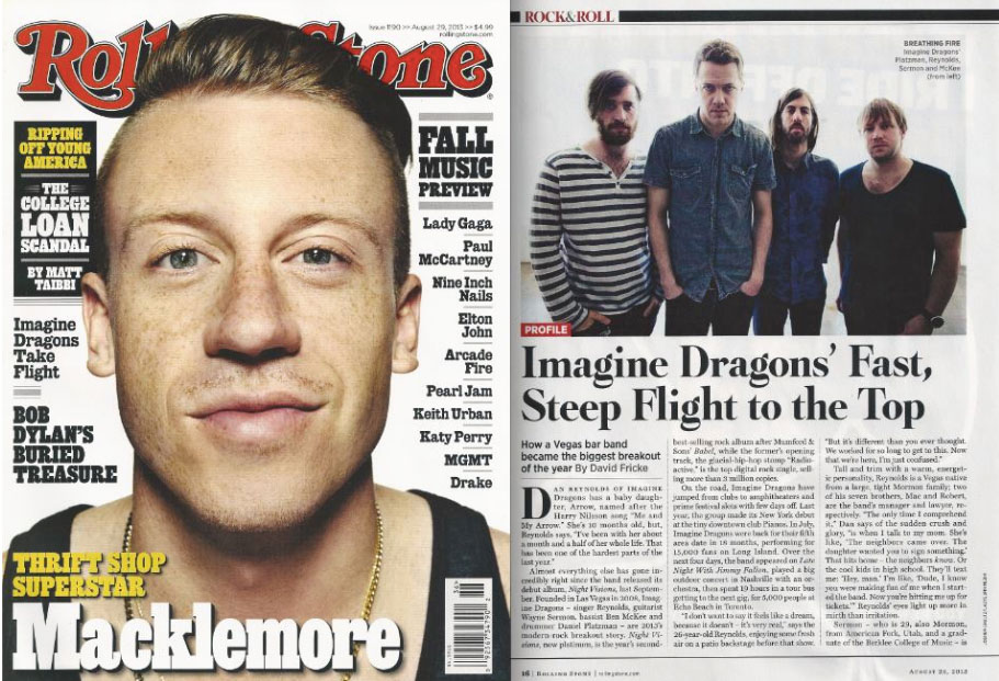 Imagine Dragons in Rolling Stone
