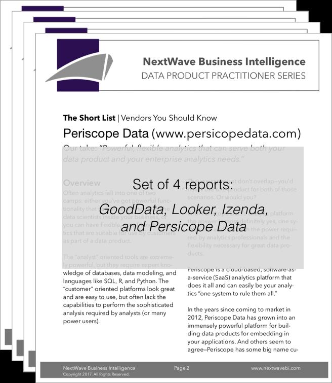 Vendors You Should Know, Set 1 (2017) — NextWave Business Intelligence