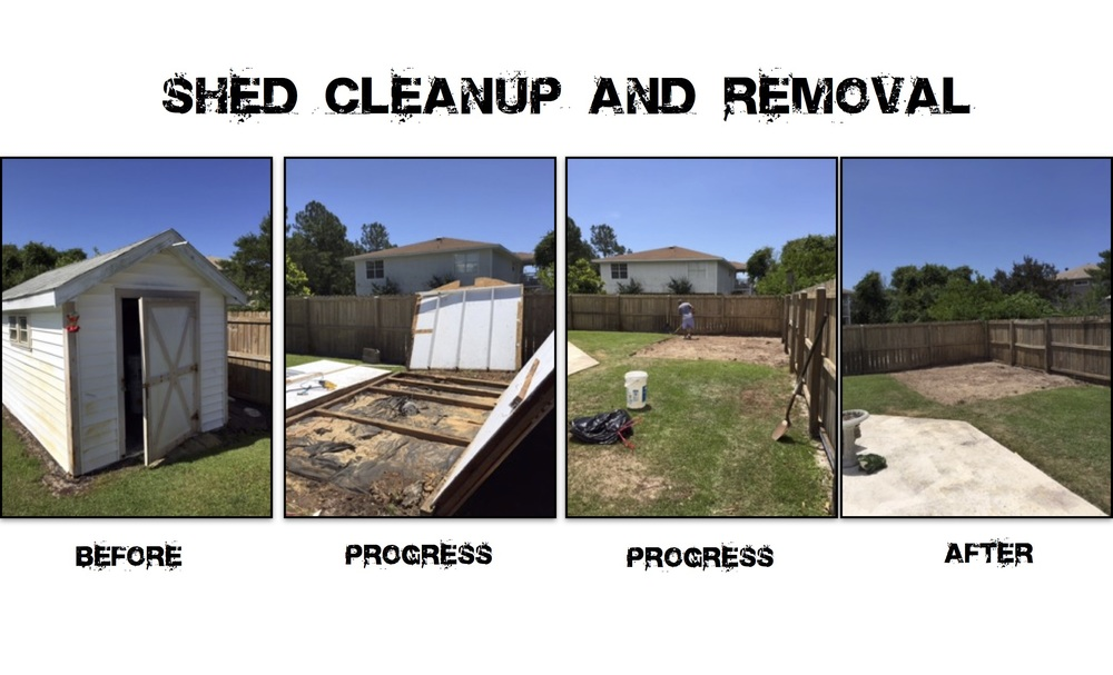 Shed Removal Spring 2015