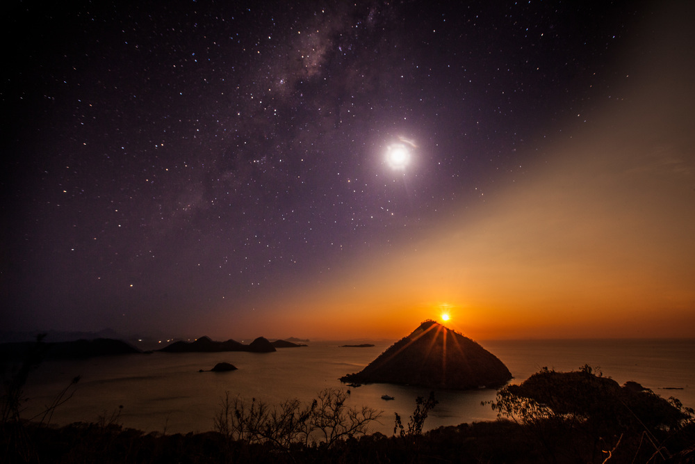 Day To Night, Komodo National Park, Flores, Indonesia