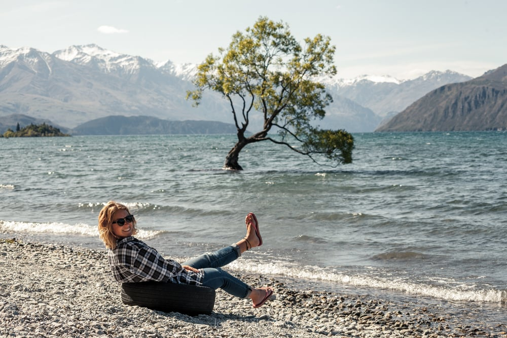 Chill out Eva (With the FlipFlops), Wanaka, New Zealand