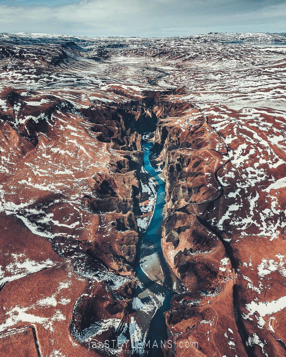 64. Fjaoragljufur, Iceland. (aerial)