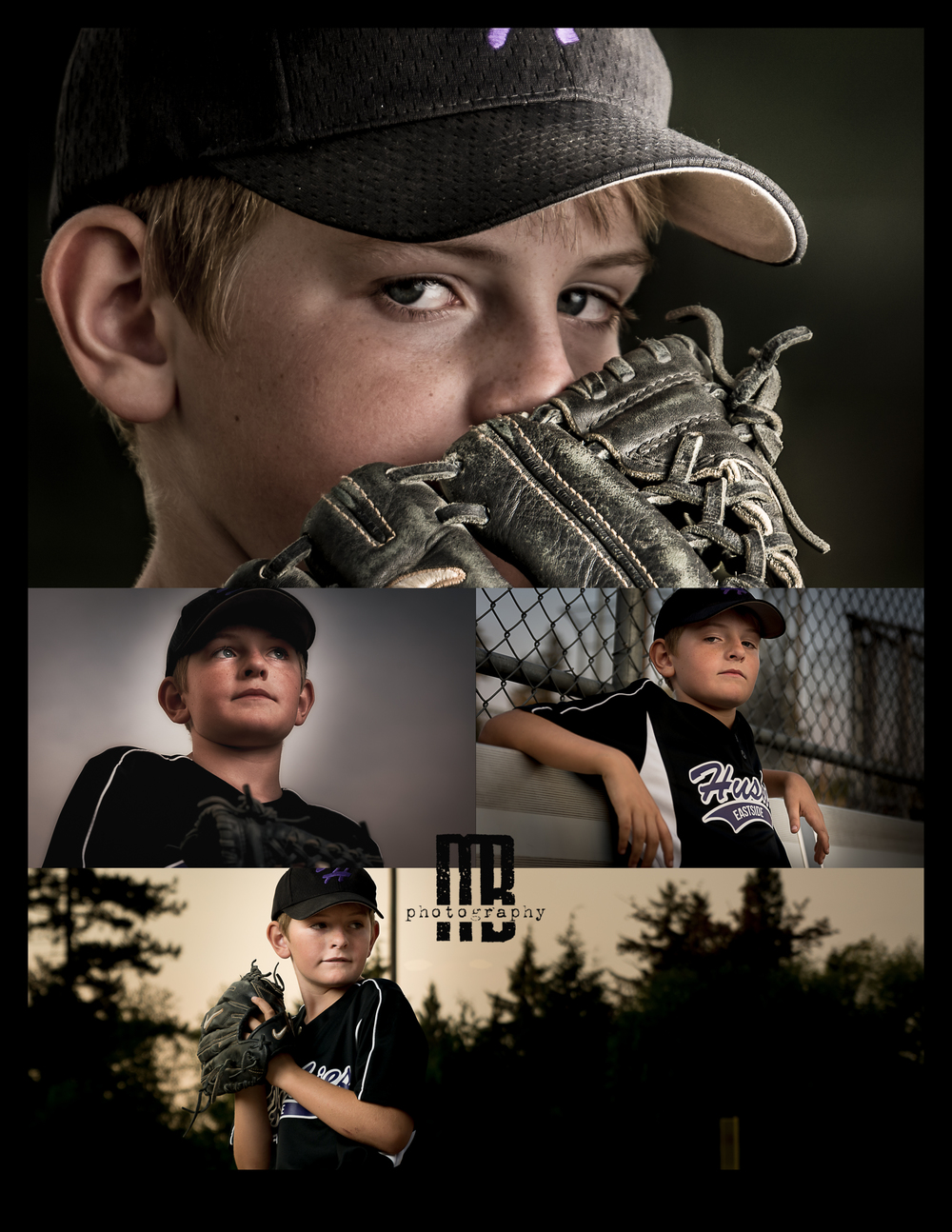 Mason Baseball portrait collage