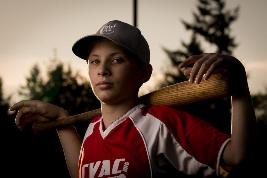 Devin Baseball Portrait chill