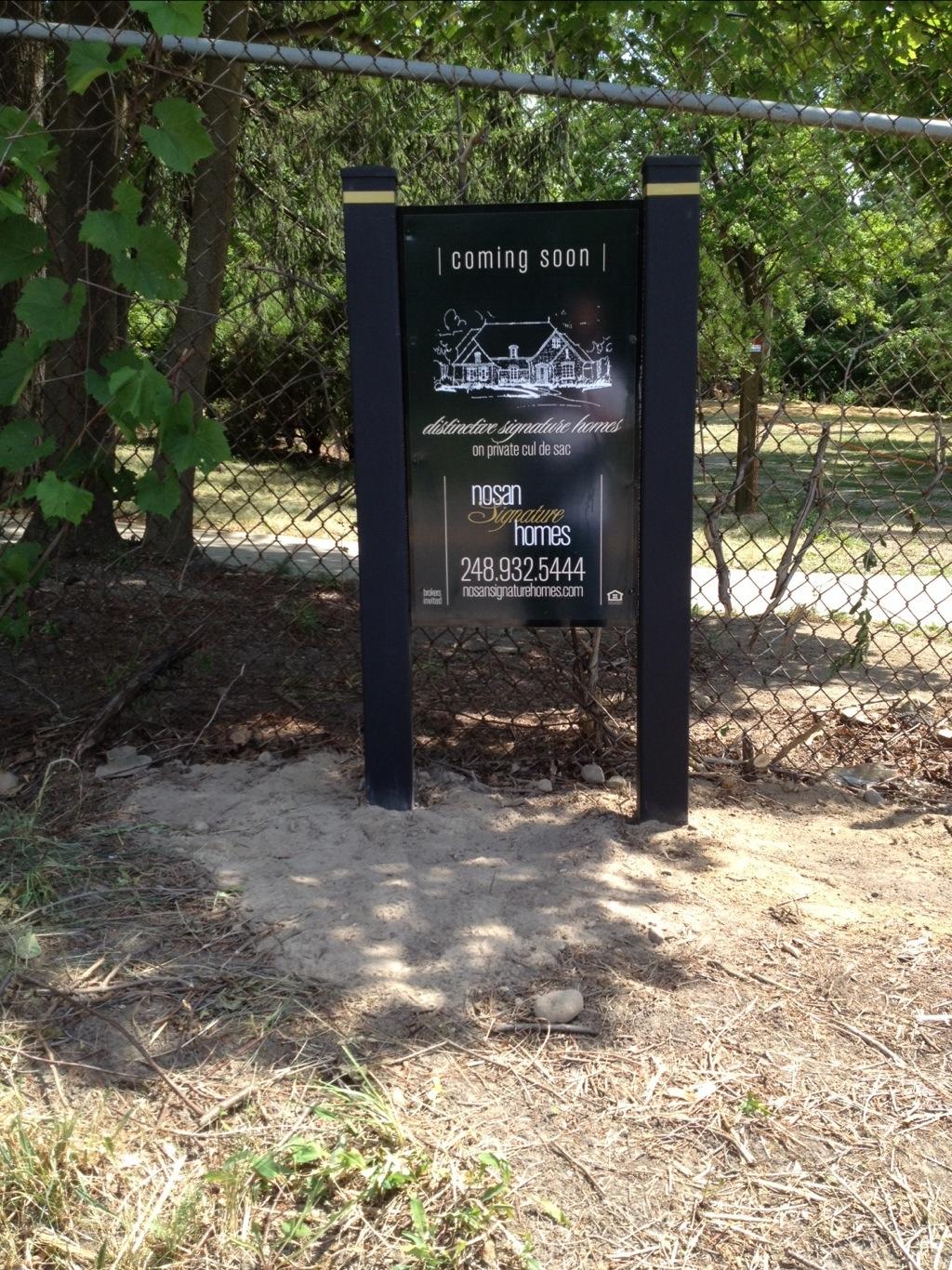 565 long lake Sign