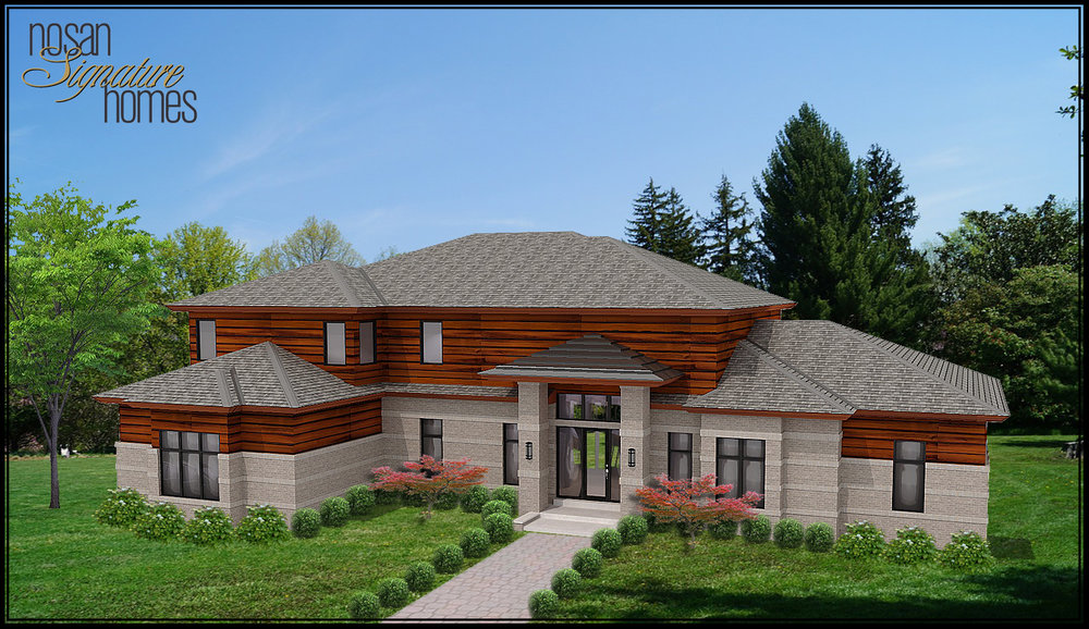 The rendering of the home exterior Luke was working on above