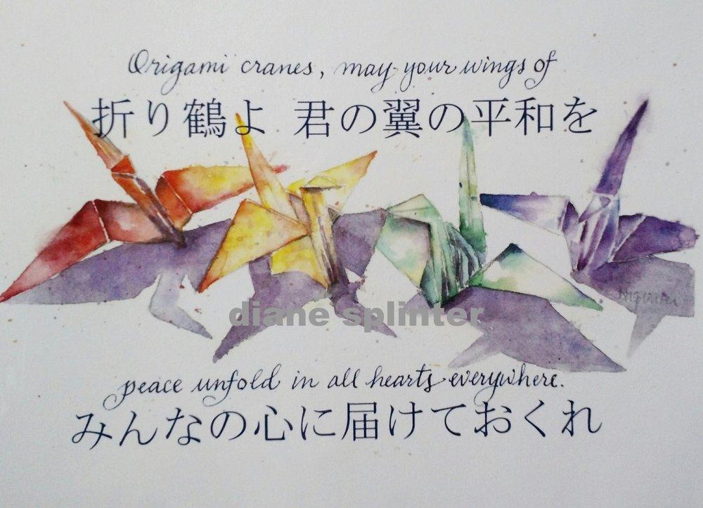 May Peace Open In All Hearts Origami Crane Fine Art Print Diane