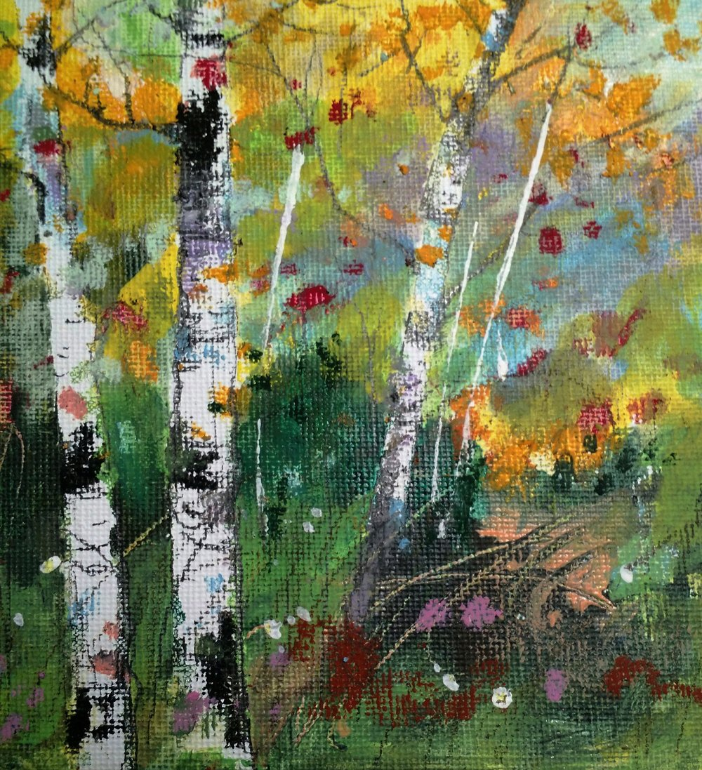 Small Fall Birches