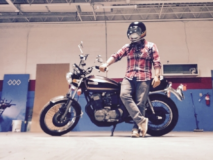 Me and my 1977 Honda CB750