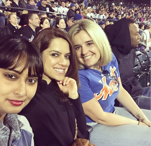 Baseball selfie! Me, Sara and Kasia (the lifelong Mets fan in the crew)