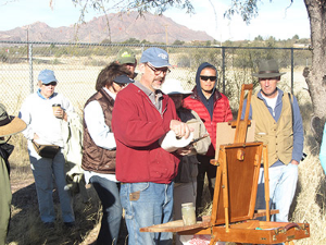 Phil demonstrating at the Tubac, AZ Workshop.