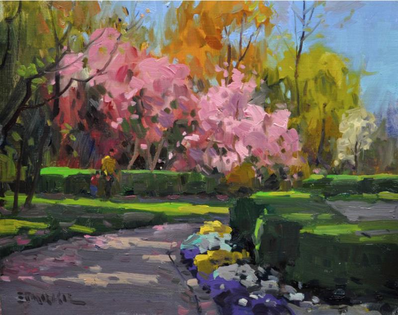 Central Park, Morning Light - oil - 9 x 12