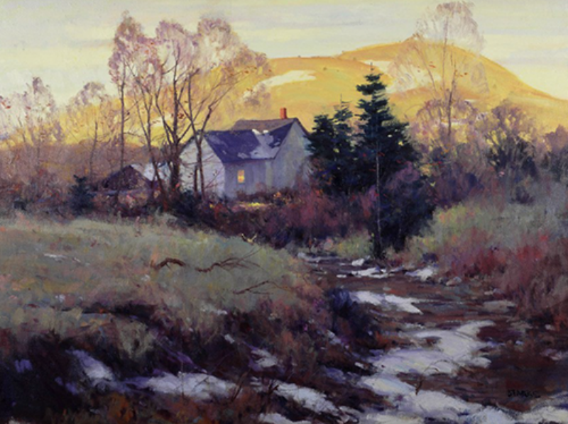 Sunset on Mill Creek - oil - 30 x 24