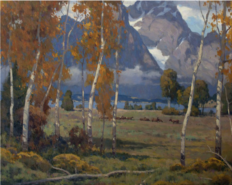 Winter Trek, oil, 24 x 30