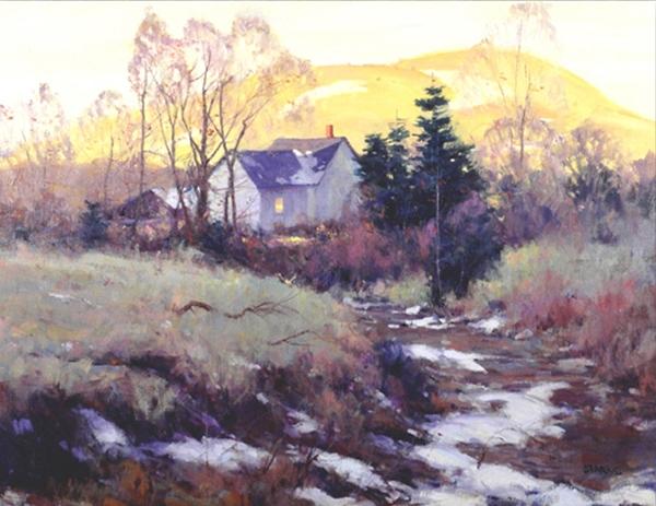 Sunset on Mill Creek, oil, 30 x 40