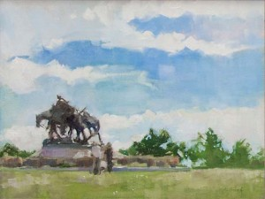 Penn-Valley-Plein-Air-Fest-Painting-The-Pioneer-Mother