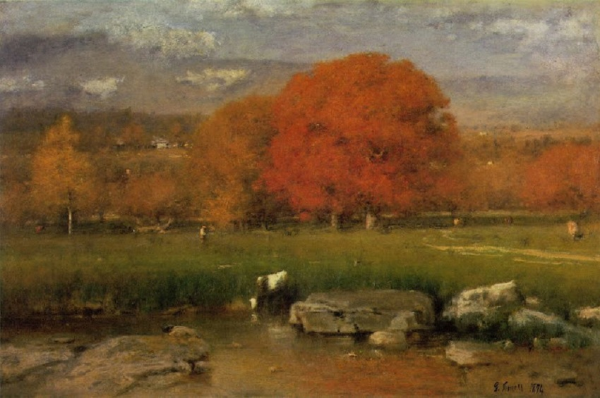 The Red Oaks - George Innes