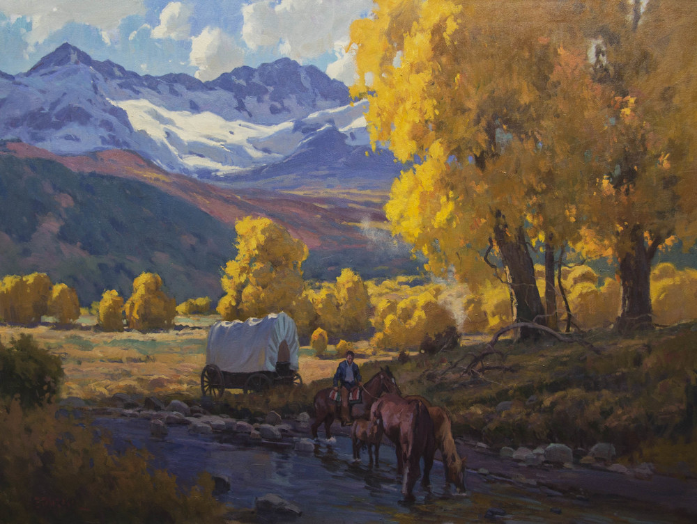 """The Rockies in Autumn - oil - 30 x 40 - Available Through """"Traveling The West Art Show"""" - Dallas, TX."""