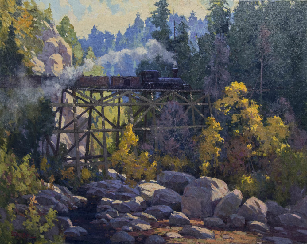 "Passing Through Oak Creek Canyon - oil - 24 x 30 - Available Through ""Traveling The West Art Show"" - Dallas, TX."