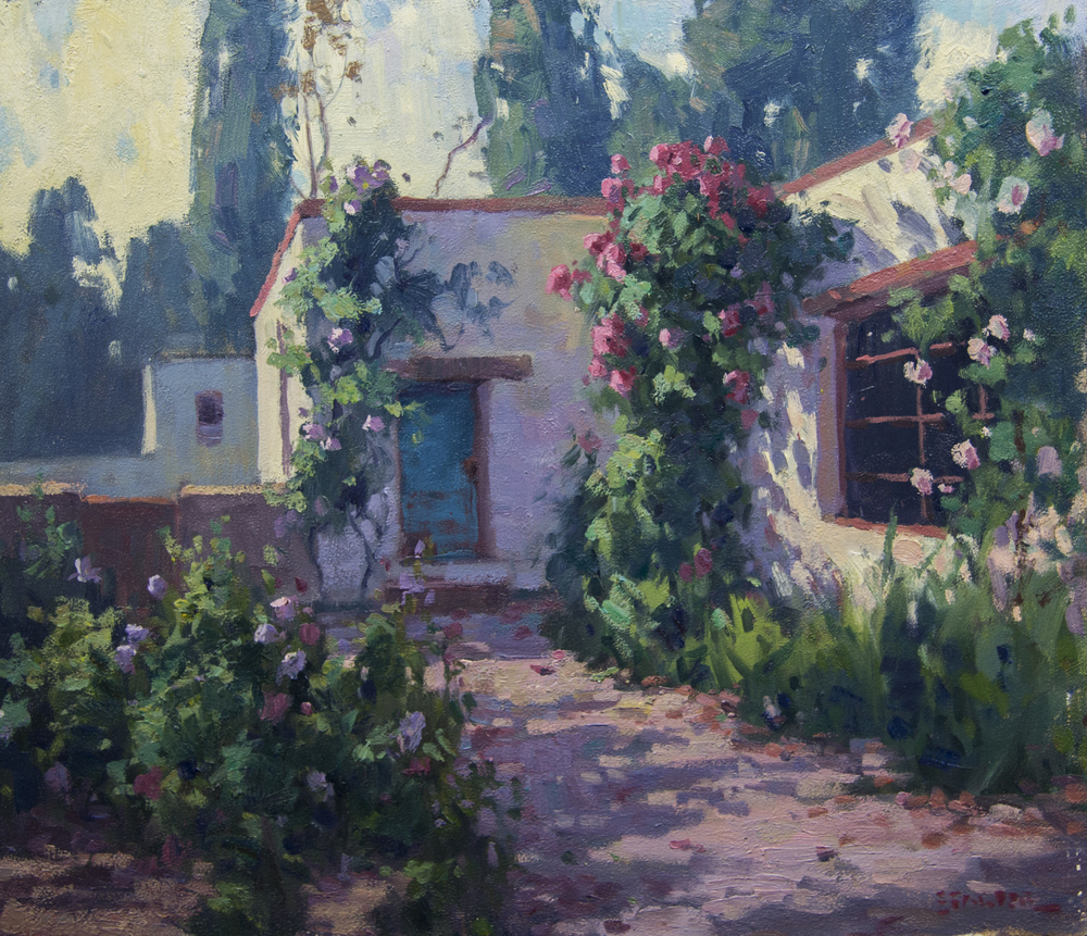 Ranch House, Tubac Arizona - oil - 24x30 - Available through Big Horn Galleries