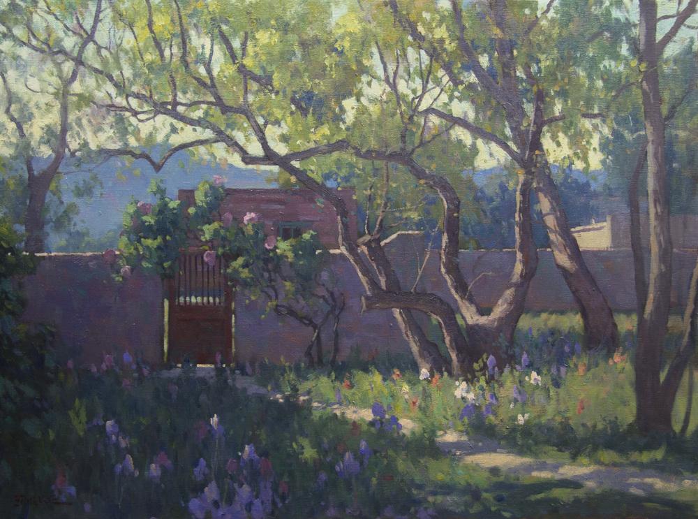 Garden Gate, Tubac, AZ - oil - 18x24 - Available through Big Horn Galleries