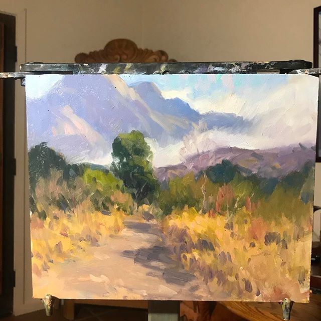 Demo at Tubac, AZ, looking at the Santa Rita Mountains