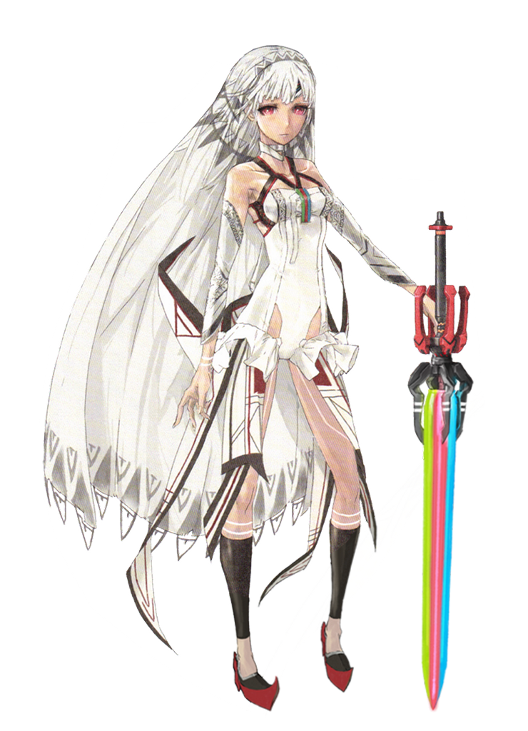 Attila the Hun in Fate grand order with bonus rainbow sword. Historically accurate.