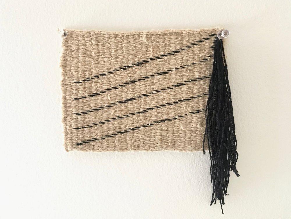 Weft Study #1, tapestry fringe