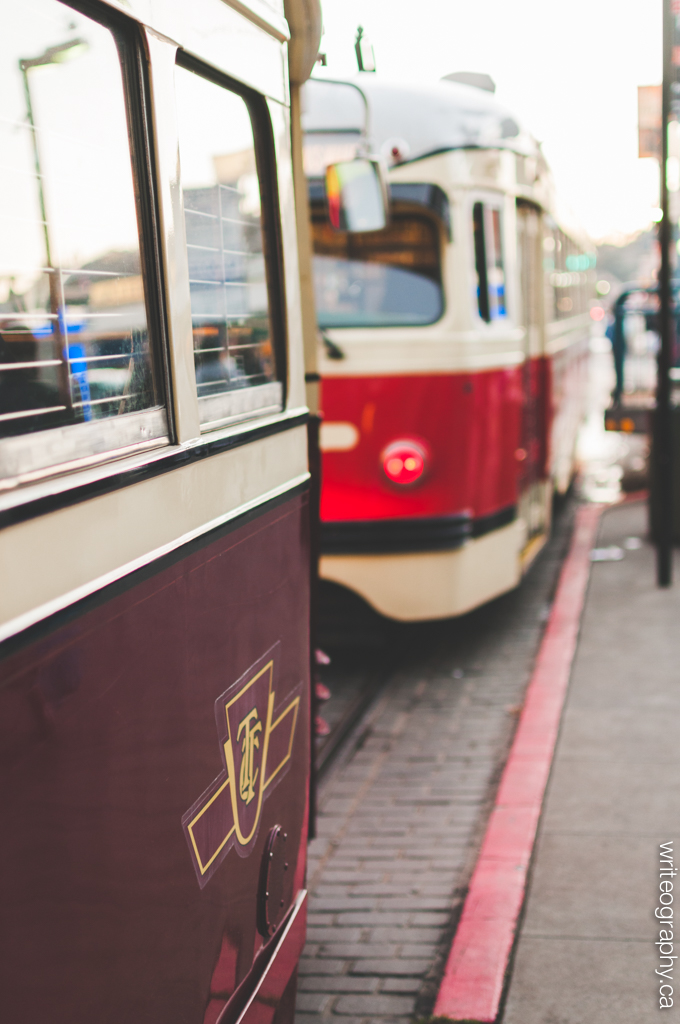 Far from home: a TTC streetcar near Fisherman's Wharf in San Francisco