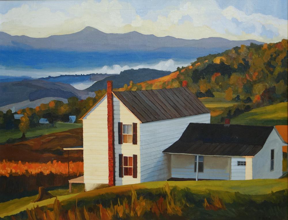 "Boof Hall   36"" x 28"", oil on canvas"
