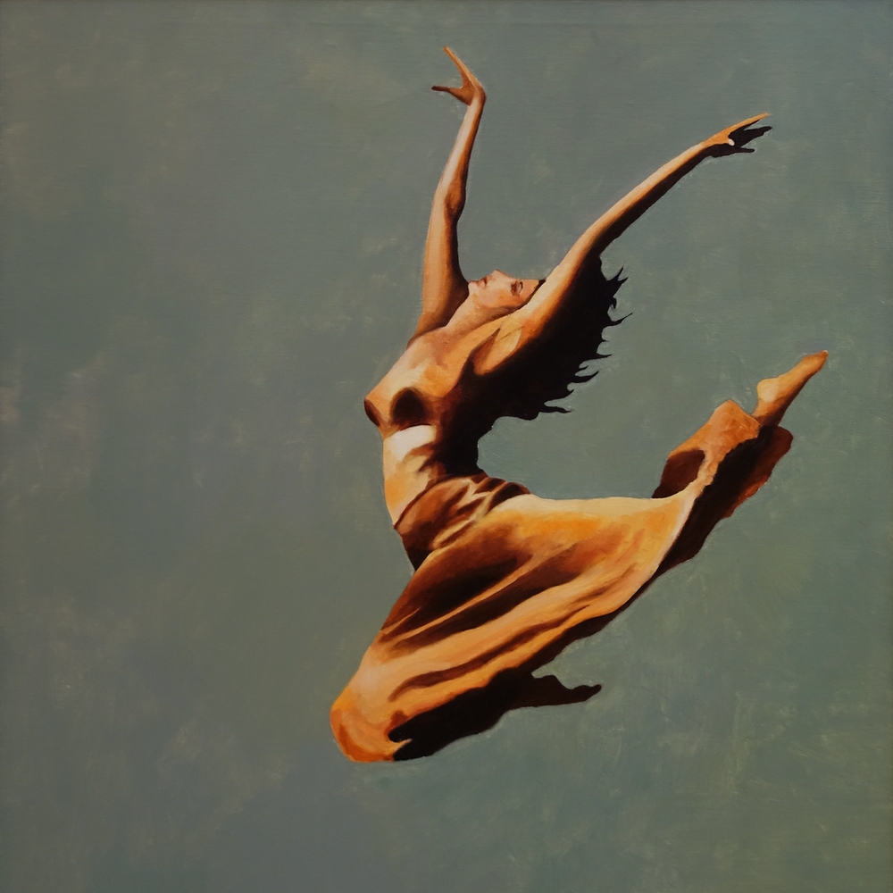 "Graceful   18"" x 18"", oil on board Private collection"