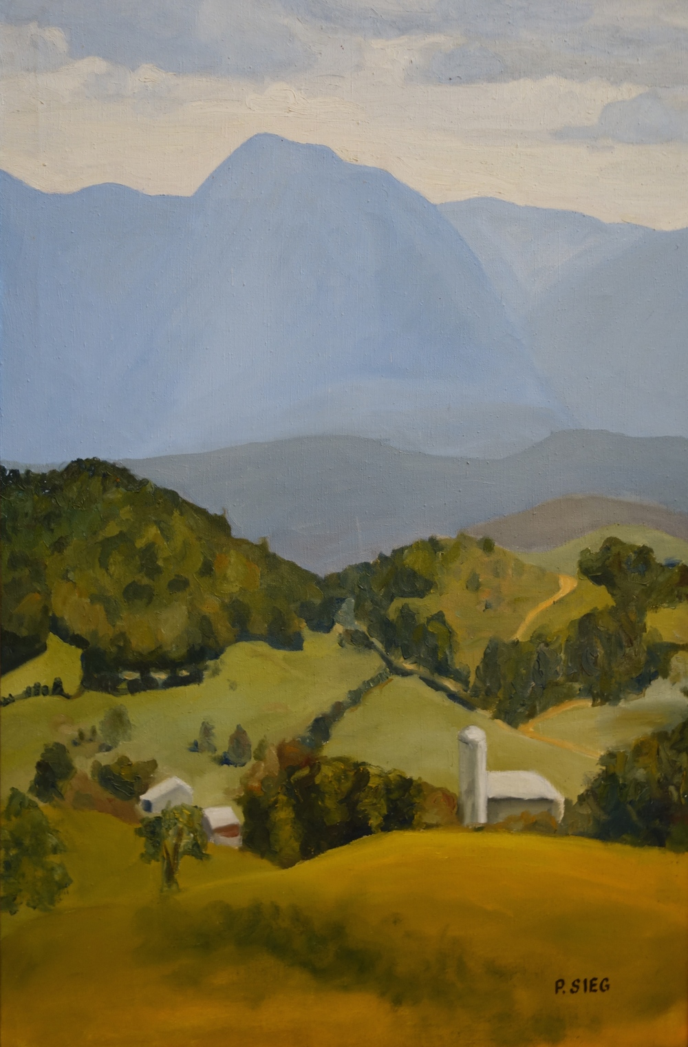 "View from Boof Hall   36"" x 24"", oil on canvas Private collection"