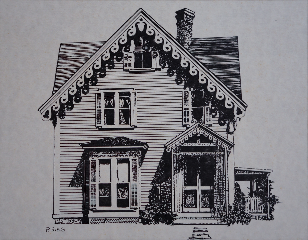 "Cape Cottage   8"" x 10"", ink For sale,  contact the artist"
