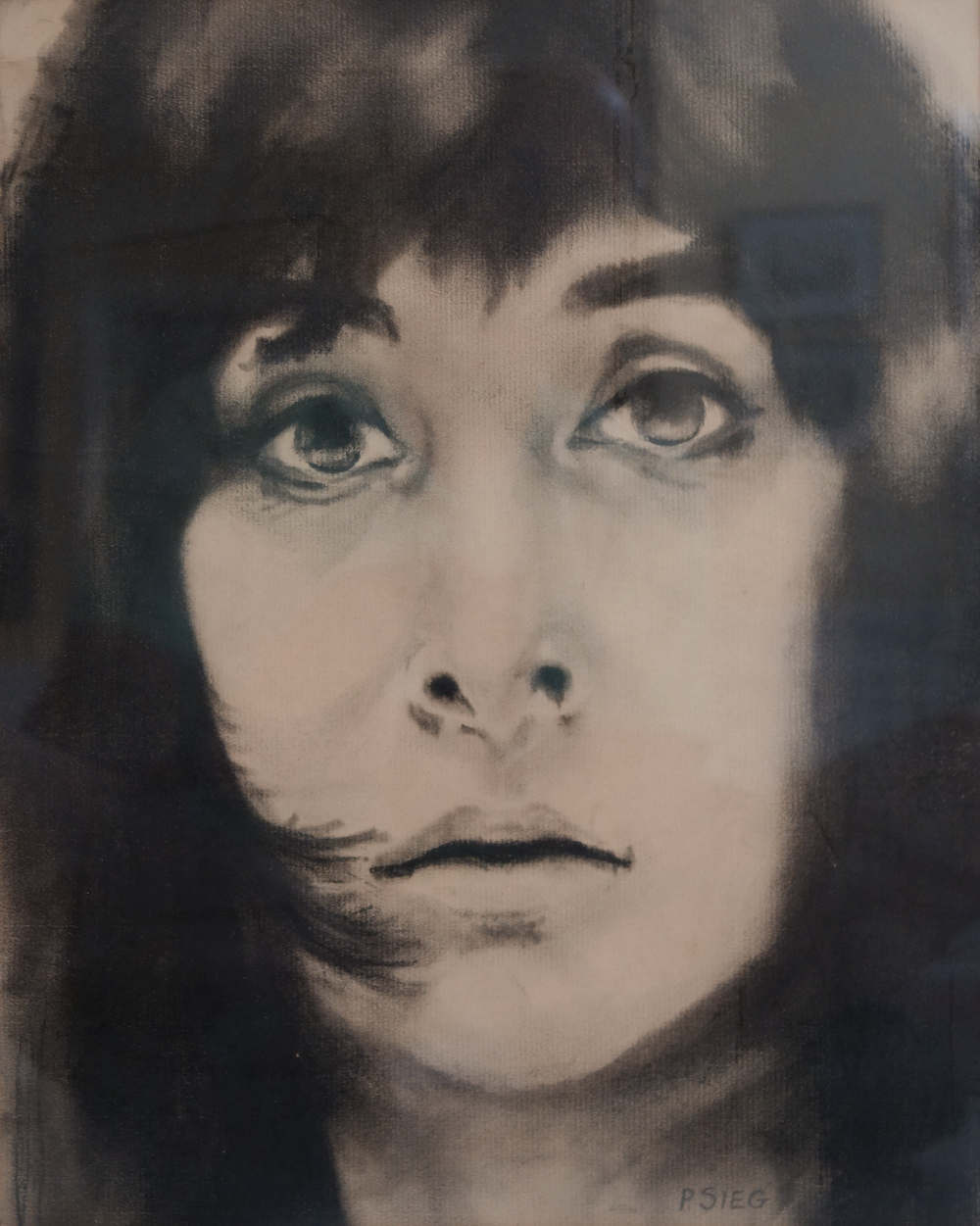 """elancholy Babe   10"""" x 14"""", charcoal  For sale,  contact the artist"""