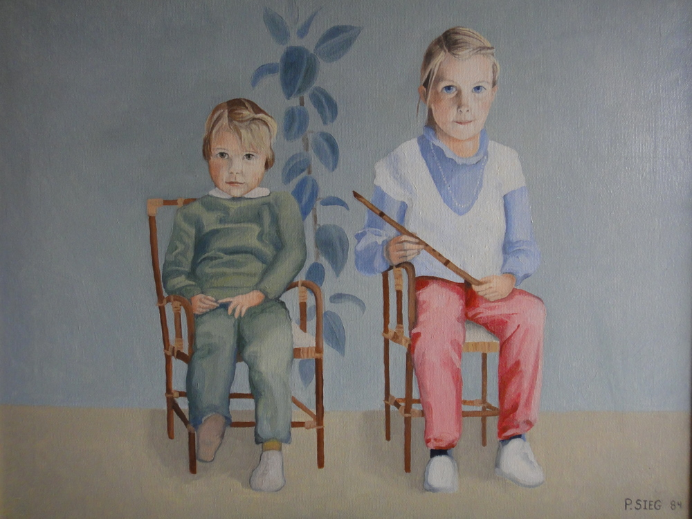 """The Downing Children   18"""" x 24"""", oil on canvas  Painted on commission"""