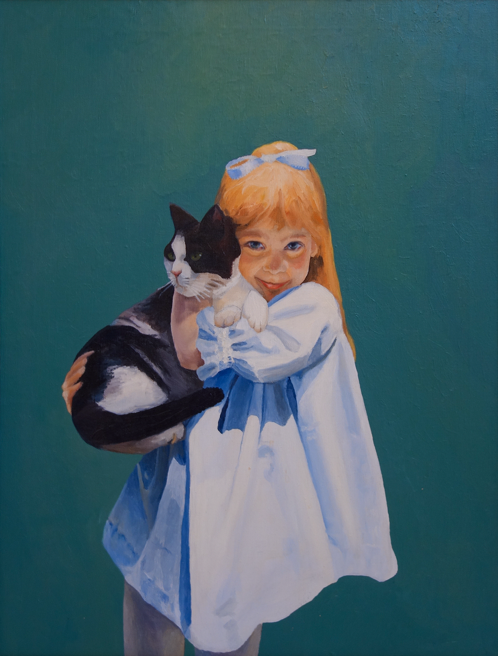 """Jennifer and Cindy   24"""" x 36"""", oil on canvas  Private Collection"""