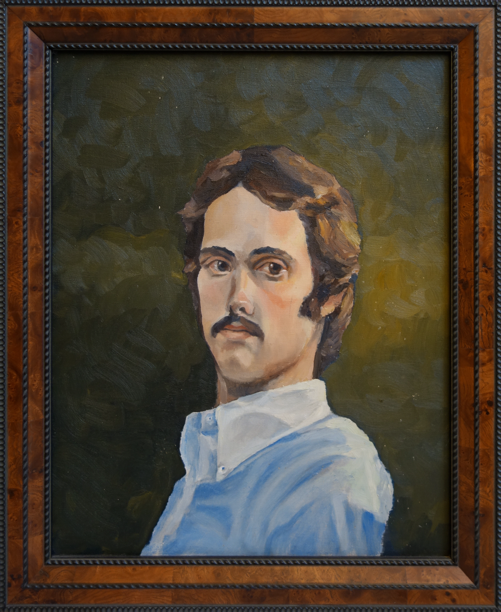 """Artist as a Young Man   16"""" x 20"""", oil on canvas  Private collection"""