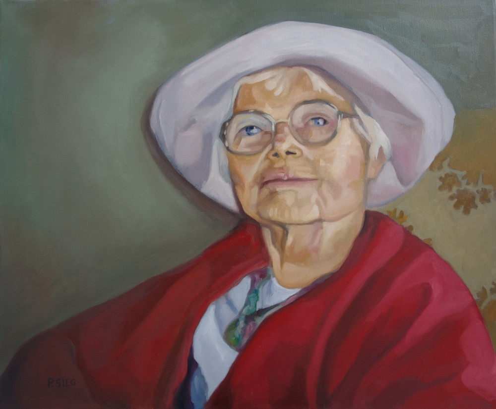 """Tot After97 Great Years   20"""" x 24"""", oil on canvas  Painted on commission"""