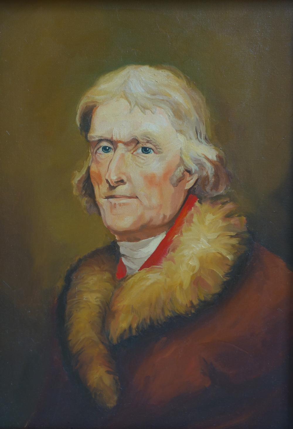"""Thomas Jefferson   18"""" x 24"""", oil on canvas  For sale,  contact the artist"""